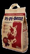 Pi-Pi-Bent Classik 10 кг. бум. крафт пакет КОМКУЮЩИЙСЯ наполнитель для кошачьего туалета из природного бентонита