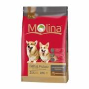 Полнорационный корм для собак всех пород MOLINA «Fish & Potato»