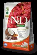 Farmina Беззерновой N&D Dog Quinoa Skin&coat Herring  СЕЛЬДЬ, киноа, кокос и куркума. Здоровье кожи и шерсти. Полнорационный сухой корм для взрослых собак.